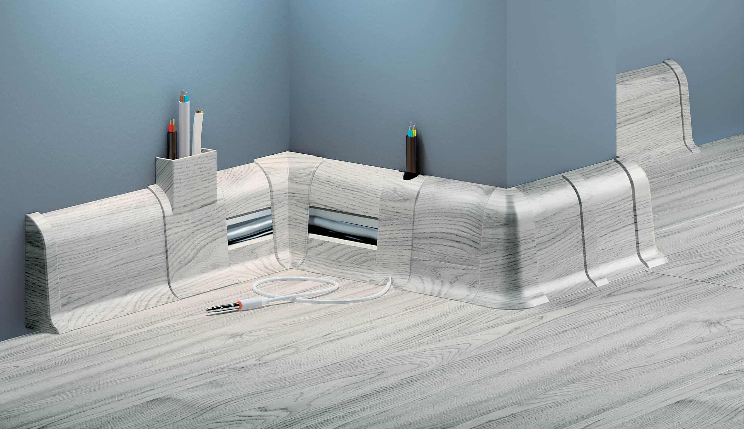 Plastikinės grindjuostės cezar